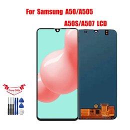 6.4 'Samsung galaxy A50S A507 / A50 A505F / DS LCD A505F A505FD A505A LCD Ekran Dokunmatik Ekran Sayısallaştırıcı Meclisi için LCD nereden asus dokunmatik ekran onarımı tedarikçiler