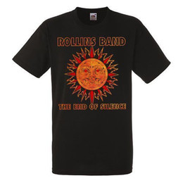 Camisas de rock metal online-Rollins Band The End Of Silence Black Nueva camiseta Rock Band Heavy Metal Tee