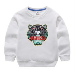 Conjuntos de ropa 12 años online-Nuevo diseñador de lujo clásico 2-12 años Bebé camiseta abrigo jacekt suéter hoodle olde Traje de algodón de los niños de los niños Conjuntos de ropa SUDADERO o