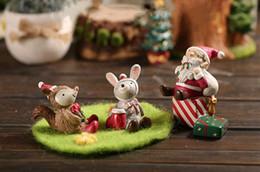 8styles de Navidad Micro Paisaje maceta adornos de resina animales formados Macetas creativo Ornamento del regalo de Navidad para la mesa Decora FA2998 desde fabricantes