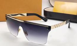 óculos de sol sem armação para homens Desconto Designer de luxo Das Mulheres Dos Homens Da Marca Óculos De Sol UV Lente de Proteção Quadrado Lente de Revestimento de Moda Sem Moldura Quadro Banhado A Lunettes Caixa de Varejo