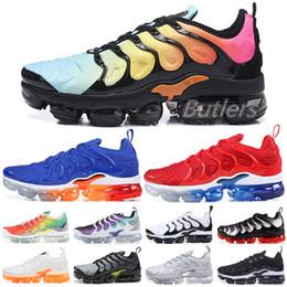 6c5582d337 2019 photos golf 2019 TN Plus Rainbow Running Shoes Uomo Donna Triple Black  White Gioco Royal