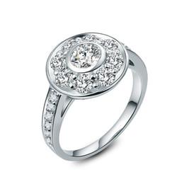 Argentina Vintage 2.5CT Anillo de compromiso de diamante sintético Joyería de plata esterlina Regalo perfecto para su aniversario de boda Suministro