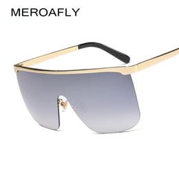 occhiali da sole degli uomini d'argento degli specchio Sconti vendita all'ingrosso occhiali da sole semi-senza montatura donne oversize marrone argento specchio per donna occhiali da sole sfumati per gli uomini occhiali UV400 Gafas