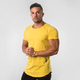 2019 tee shirt homme serré 2019 Nouveaux ALPHALETE Hommes Casual T-shirts Salles De Sport Tight Fitness Hommes T-shirts À Manches Courtes En Coton Printemps Hommes tee shirt homme serré pas cher