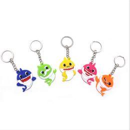 Autos zeug spielzeug online-Baby Shark Hanging Keychain Silikon PVC Pinkfong Designer Schlüsselanhänger Anhänger Cartoon PlushStuffed Dolls Spielzeugauto Bag Decor Schlüsselanhänger B7502