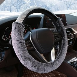 Black/&White Universal Car Steering Wheel Cover Steering Wheel Cover with Crown and Rivet PU Leather 37-39CM//15 Anti Slip Protector Steering Wheel Protector For Women /& Girls