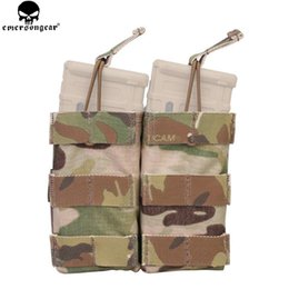 Doppia mag-bag online-EMERSON Double Open Top 5.56 Mag Pouch Tactical Modular Molle Magazine Pouch per Tactical Hunting Multicam Pouch