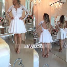 26476fa6d7be 2019 abiti corti bianchi di colore rosso 16 2019 White Pearls Homecoming  Dresses Una linea a