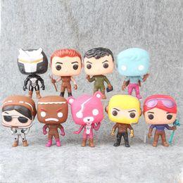 Pop plastica online-9 Style Fortnita Funko POP bambola di plastica per bambini giocattoli 10cm Cartoon lama di gioco azione rosa Orso figure Giocattoli regali di Natale