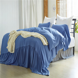 il comforter blu chiaro regina regina Sconti Twin Queen King Size Beddingset Sirene lavate Light Blue Beddingset 3 PCS (1 copripiumino + 2 federe) Set di biancheria da letto consolatore