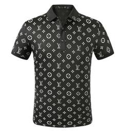 2020 polo design LVL brodé polos hommes T-shirts manches courtes vêtements d'été calssic de haute qualité d'affaires tee dessus Casual polo design pas cher
