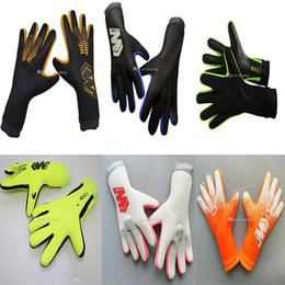 2019 guantes porteros Marca Portero Profesional Guantes no hay protección de los dedos de látex espesado de fútbol del fútbol de portero Guantes Guantes portero Meta guantes porteros baratos
