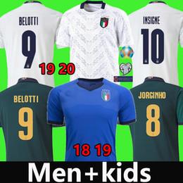 Italien weg jersey online-18 19 20 Italien Fußball Trikot 2019 2020 INSIGNE Renaissance CHIELLINI BONUCCI BERNARDESCHI BELOTTI SENSI BARELLA Fußball Trikot Herren + Kinder