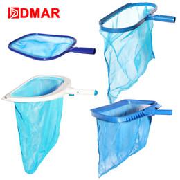Мешок для купания онлайн-DMAR Swimming Pool Skimmer 4 Sizes Cleaner Leaf Rake Mesh Net Fountain Pool Tool Leaf Shallow Bag Cleaning Equipment Accessories