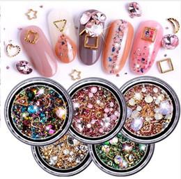 pietre diamanti per decorazioni Sconti Strass colorati misti per le unghie delle pietre di cristallo 3D per le decorazioni di arte del chiodo Diamanti del manicure di design fai da te