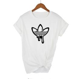 Nueva camisa color corte online-Calidad superior de algodón corte Doodle Imprimir ADI Imprimir camiseta de las mujeres O-cuello ocasional camiseta de las mujeres nuevo diseño Mujer Camisetas