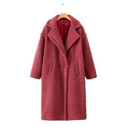 Beiläufige Frauen Woolen Teddy Langen Mantel Winter Pelz Lamm Mantel Luxus Frauen Jacke Lösen Korean Fashion Warm Womens Oberbekleidung von Fabrikanten