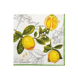 restaurant products Coupons - Yellow lemon pattern color printing paper Western restaurant dessert shop paper place mat Party decoration product towel