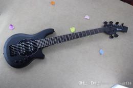 Hombre de musica bajo negro online-HOT black bango bass Best Custom 6 string MUSIC man bass BASS guitarra pastillas activas 9V batería
