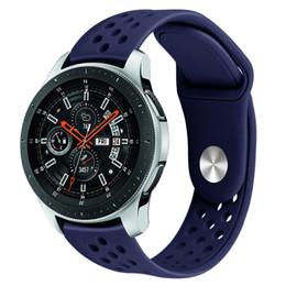 2019 bracelet en silicone de 22 mm 22mm Bande Pour Samsung Galaxy Bracelet De Montre Pour Huawei Montre Silicone Bande de Sport Bracelet De Montre 91001 bracelet en silicone de 22 mm pas cher