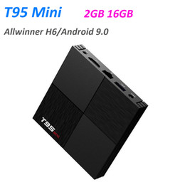 android tv top Promo Codes - T95 Min 6K TV Box Android 9.0 Allwinner H6 Quad Core 2GB 16GB 2.4G Wifi Media Player 2G16G TVbox Home Video Set Top Box