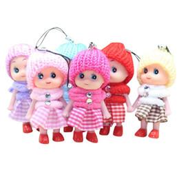 2020 lindo llavero muñecas Lindo juguetes de los niños suave interactivo muñecas del bebé del juguete Cadena Clave Muñeca Mini Llavero para niñas Anillo clave titular de la clave MMA2883-A1 rebajas lindo llavero muñecas