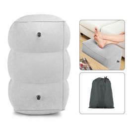 almohada terapia de sueño Rebajas Almohada ajustable inflable del resto del pie de la altura del viaje HM021 para el adulto C18112201 de los niños