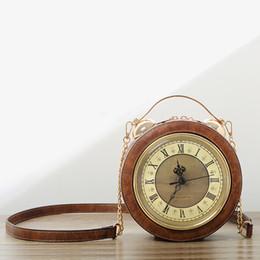 relógio, bolsas Desconto Moda, criatividade, personalidade, relógio, bolsa, jog, bolsa, corrente, ombro único, bolsa cruzada, bolsa de lazer de grande capacidade.