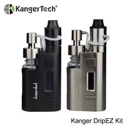 2019 bobina de gotejamento mod Hot Kanger DripEZ Starter Kit Dripbox EZ 80 W Box Mod Cigarro Eletrônico 0.3ohm Bobina RBA Kangertech Gotejamento EZ Vape Kit