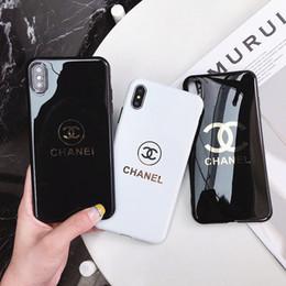 cubiertas de la nave para los teléfonos celulares Rebajas Diseñador de lujo caja del teléfono chapado en oro para iphone xs max 6 7 8 más la cubierta del teléfono celular de alta calidad apestó el envío libre