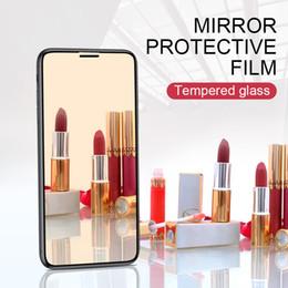 8D espejo película protectora para iphone XR XS máx. 9 h protector de pantalla vidrio templado en el teléfono para i X XSmax película de espejo de acero iphone6 7 8X desde fabricantes