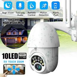 Câmeras de segurança ao ar livre ptz on-line-Impermeável ao ar livre 1080P HD IP CCTV câmera WiFi PTZ segurança sem fio IR Cam