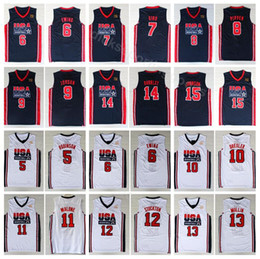 d3a5640444e9 2019 basketball trikot team College 1992 USA Team One Basketball 12 John  Stockton-Trikot 4