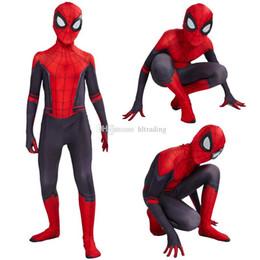 meias de super herói Desconto Crianças Super hero Cosplay Traje romper Masquerade Natal Halloween Meninos Apertados Macacões dos desenhos animados Anime Vingadores Roupa do bebê C6818