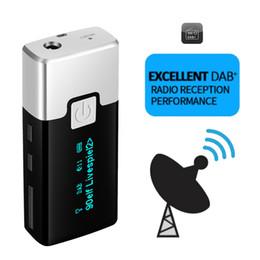 antena de cobre Rebajas FM Mini Radio portátil Radio DAB Receptor DAB de bolsillo de radio digital con pantalla de pantalla de auricular Receptor de batería recargable