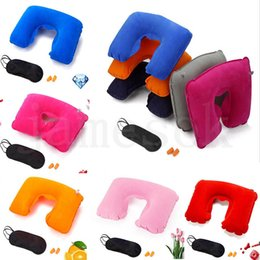 sedie africane Sconti 11 stile gonfiabile cuscino a forma di u per viaggi in aereo cuscino da viaggio gonfiabile cuscino accessori da viaggio cuscini per dormire cuscini d'aria dc665