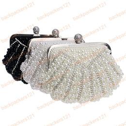 46e043035891c muschel geformte abendtasche Rabatt Luxus Imitation Perle Clutch Frauen  Geldbörse Diamant Kette Abendtaschen Shell Shaped Hochzeit