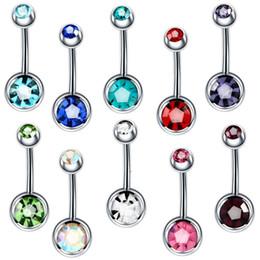 piercings sexy del tasto della pancia Sconti ZIIME 17 Color Steel Piercing Ombligo 14G Piercing all'ombelico Nombril Gem Gemy Belly Button Piercing Sexy Body Jewelry