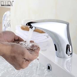 Rubinetti a infrarossi online-Lavandino del bacino del bagno Rubinetti Sensore Automatico a infrarossi Bagno Lavello Rubinetto Touchless Acqua Calda e Fredda Mixer Gru EL221
