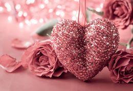 2019 fotografie backdrops bokeh Laeacco-glücklicher Valentinstag-rote Rosen-Tupfen-Licht Bokeh-Partei-Baby-Kinderfoto-Hintergrund-Fotografie-Kulissen-Foto-Studio günstig fotografie backdrops bokeh