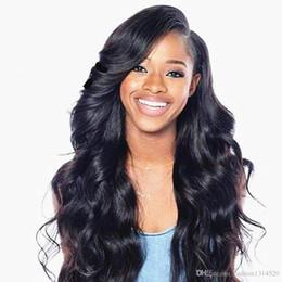 Haut en soie ondulée en Ligne-24inch 10A Full Lace Perruques De Cheveux Humains Pour Les Femmes Noires Brésilienne Full Lace Perruques Soie Top Ondulé Sans Colle Lace Front Perruques de Cheveux Humains