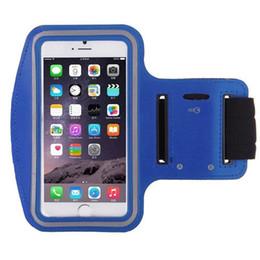 Braceleiras de esportes on-line-Arm band arm pouch phone Holder Phone Pouch Sport Gym Arm-band Waterproof bag Case For iPhone Huawei Samsung pocket