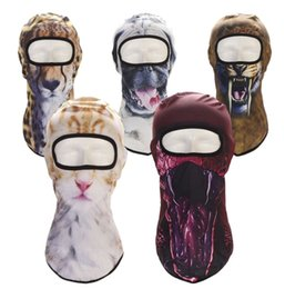 2019 capacete de paintball airsoft Balaclava Motorcycle Máscara Facial animal cão gato Chapéus capacete 3D Respirável Windproof Airsoft Paintball Snowboard Ciclismo Ski DHL desconto capacete de paintball airsoft