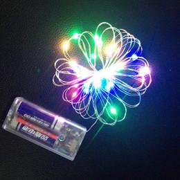 Produttori di palle di natale online-Le lanterne dei produttori hanno condotto il contenitore di batteria del filo di rame della stringa di natale Luci dell'aerostato della decorazione di natale lampada della sfera dell'onda lampada all'ingrosso del filo di rame