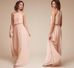 3a3df79ea 2019 vestidos de invitados de boda para la noche de verano Por encargo Blush  Pink Chiffon