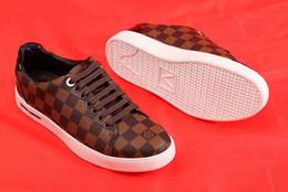 zapatos de cuero puro para hombres Rebajas Moda 2019 hombres mujeres zapatillas de deporte de cuero zapatos casuales Classic Balck Pure hombres mujeres zapatos planos sin caja