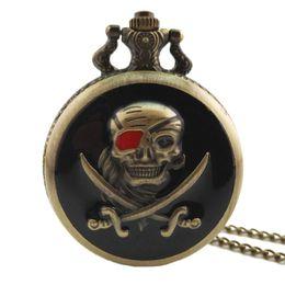 Cráneo reloj digital online-Antiguo Steampunk Cráneo Flor de Cuarzo Reloj de Bolsillo Hombres Mujeres Collar de Cadena Retro Colgante Reloj Joyería Del Encanto Regalos