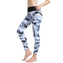 2019 pantaloni khaki yoga 2018 Nuove Donne Yoga Pantaloni Sport Palestra Collant nero navy rosso khaki Donna Sportswear Leggings Sport Fitness Maglia Sottile Nave # 73806 pantaloni khaki yoga economici