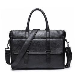 Canada Style européen Vintage Hommes Messenger Sacs fourre-tout sacs à bandoulière pour hommes élégants valises bureau hommes # 691381 cheap european tote bag for men Offre